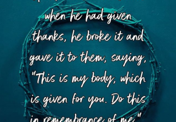 Holy Week – Do this in remembrance of Me